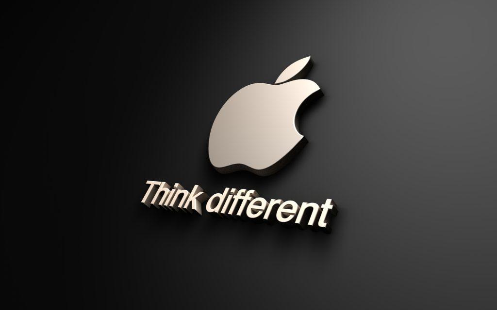 Le slogan de la marque Apple
