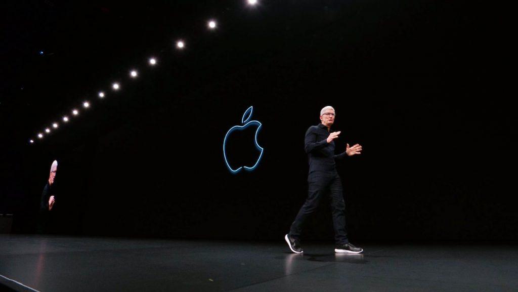 Tim Cook fondateur Apple qui présente les nouveautés